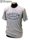 【BRIXTON ブリクストン】 半袖Tシャツ PREMIUM FIT フェザーグレー